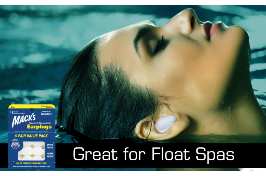 Mack's® Silicone Ear Plugs. Great for Float Spas.