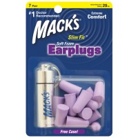 SLIM FIT SOFT FOAM EARPLUGS (7 Pair)