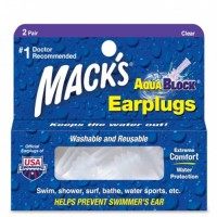 AQUABLOCK® EARPLUGS - CLEAR